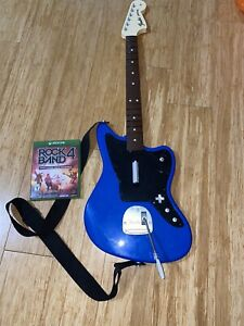 Rock Band 4 Wireless Fender Jaguar Xbox One Blue Guitar Controller And Game