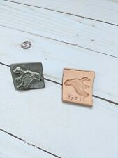 Vintage Discontinued Rare Craftool Flying Duck Leather Stamp