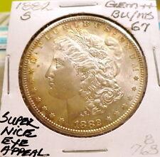 1882-S MORGAN SILVER DOLLAR GEM++ BU/MS, SUPER NICE, ORIGINAL, SHARP STRIKE B768