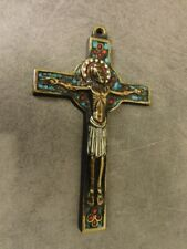 CHRIST CRUCIFIX EN BRONZE EMAILLE N°10