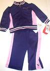 neuf Puma 2 pièces Ensemble 12 mois filles survêtement violet rose authentique