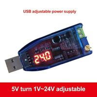 Mini DC-DC Buck Boost Converter USB Step Up Down Power Supply Module 5V to 1-24V