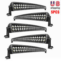 "Nilight 32"" Inch Curved LED Light Bar Spot Flood Combo for Jeep SUV ATV GMC 4WD"