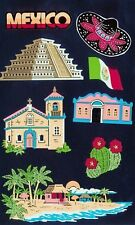 ~ Mexico Travel Pyramid Mayan Holiday Grossman Stickers SALE PRICE ~