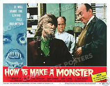 HOW TO MAKE A MONSTER LOBBY SCENE CARD # 7 POSTER 1958 GARY CLARKE WEREWOLF