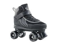 SFR Rio Roller Mayhem Kids/Adult Quad Roller Skates - Black White