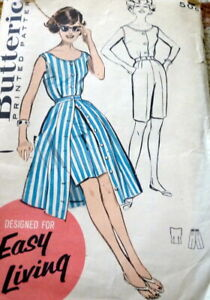 LOVELY VTG 1960s TOP PANTS SKIRT BUTTERICK Sewing Pattern 16/36