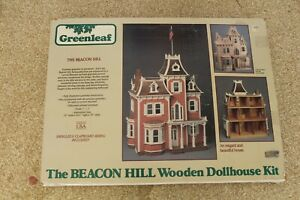 The Beacon Hill Wooden Dollhouse Kit by Greenleaf 1:12 Scale  Open Box NICE KIT!
