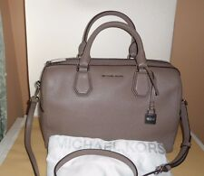 NWT Michael Kors Mercer Med Duffel 30H6SM9U2L Cinder Soft Leather Dust Bag Xbody