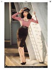Deadly Dames Micheline Pitt Pinup Coture Hotrod Honey Wiggle Dress Red Sz Large