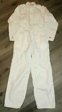 Vintage 50s Universal Overall Co Stone Cutter Coveralls Size 40 White Sanforized