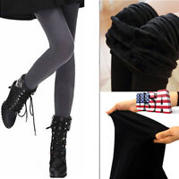 Women Winter Thick Warm Lined Thermal Stretchy Skinny Leggings High Waist Pants
