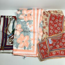 Lot 3 Vintage Scarves Vera Neumann Celine of Paris Western Anne Fogarty Silk