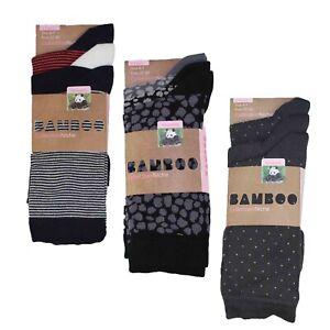 Women's 100% Bamboo Socks 3-Pair Pack Multi Pattern/Style