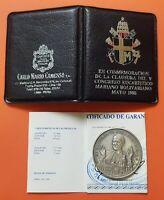 BOLIVIA Congreso Eucaristico 1988 medalla plata VENEZUELA PERU PANAMA COLOMBIA