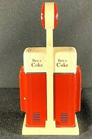 Rare Salt and Pepper Coca-Cola COKE Bottle Machines with Original Stand VINTAGE