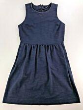 MADEWELL SLEEVELESS ZIPPER BACK DRESS WITH POCKETS NAVY BLUE MEDIUM