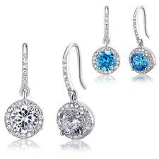 Hook Diamond Round Fine Earrings