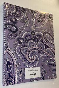 Vera Bradley Subject Notebook, Deep Night Paisley, 140 Perforated Pages, NIP