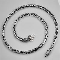 Heavy 3.5mm Solid 925 Sterling Silver BYZANTINE Chain Necklace Handmade Jewelry