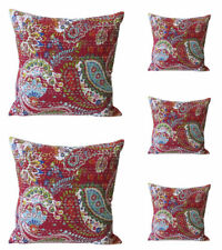 Indian Kantha Throw Pillow Sofa Pillow Home Decor Pillow Cushion Covers Set of 5