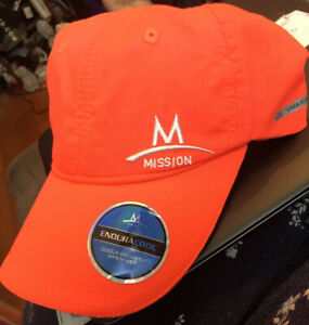 NWT MISSION Enduracool HAT COOLING CAP Neon ORANGE