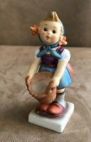 Goebel Hummel Little Helper Figurine girl vintage 73 W Germany 1982 basket