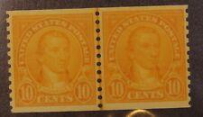 Scott 603 - 10 Cents Monroe - Og Mh - Joint Line Pair - Scv $25.00