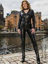Leder Catsuit Overall Ledercatsuit Schwarz Maßanfertigung