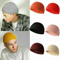 HOT Fashion Knitted Hat Beanie Skullcap Sailor Cap Cuff Brimless Retro Navy Gift