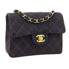 CHANEL Quilted CC Single Chain Shoulder Bag 5844730 Black Nylon NR15434