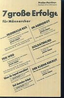 """ 7 große Erfolge "" ~ für Männerchor"