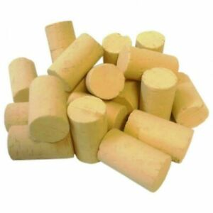 Natural Straight Corks 22x38mm wine bottle homemade High Quality (Pack of 20)