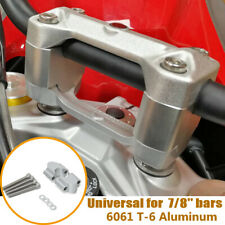 "1 Pair CNC Aluminum Motorcycle ATV 7/8"" 22mm Handlebar Riser Clamp Mount Bracket"
