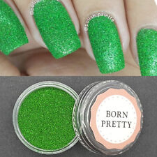 1 Box Nail Art Holographic Holo Green Laser Powder  Glitter Dust #4