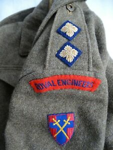 WWII 1944 CANADIAN 21ST ARMY GROUP BATTLEDRESS BLOUSE ROYAL ENGINEERS SIZE 11