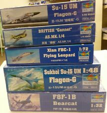 Trumpeter Model Kit Bearcat 1/32 Plus 4 Other Kits (3)1/72 & (1) 1/48 New Lot