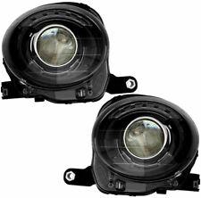Fiat 500 2012-2016 Black Headlights Head Lights Lamps Front W/Bulbs Pair Set (Fits: Fiat)