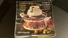 NEW IN BOX DecoSonic Four Convection Oven Fan-Forced Roaster Baker Grille