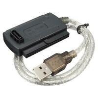 US SATA IDE To USB 2.0 Cable Adapter For DVD Drive HDD Drive Hard Disk W Power
