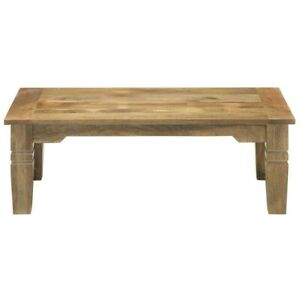 Rectangular True Rustic Farmhouse Solid Wood Coffee Table Jameson(MADE TO ORDER)
