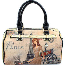 PB611-3 Fashion Print Boston Bag