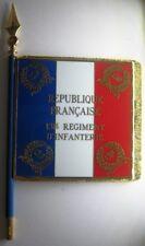 131 Régiment d'Infanterie RI Drapeau émaillé + Le nom des batailles au dos
