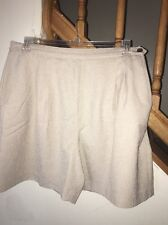 Women's Basix By Hanasport California Tan Beige Dress Shorts Size 18