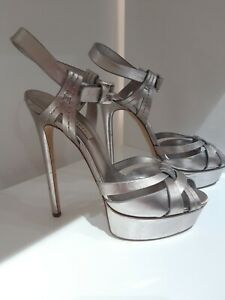 Casadei silver Flora Platform Sandals/shoes. 37.5