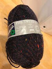 Phildar Phil'Tweed D.K. Yarn Navy Blue w/ Red, Yellow, Green Specks Acrylic Wool