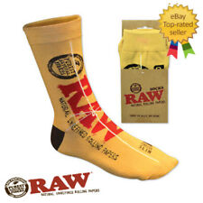 RAW Pair of Smoking Rolling Brand Socks - Classic King Size Slim Design