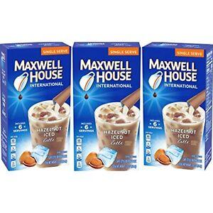 Maxwell House International Iced Hazelnut Latte (3 Pack)