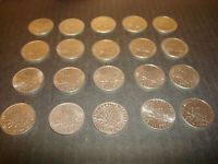 ASSORTED LOT OF 20 1 FRANC  FRANCE COINS 1960-99 VERY NICE DETAILS