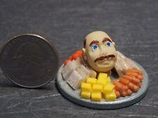 Dollhouse Miniature Halloween Head on Cheese Veggie Tray 1:12 one inch scale